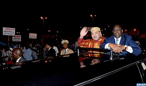 King Mohammed VI Arrived in Dakar