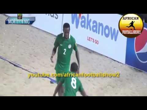 Nigeria vs Morocco 6-1 CAF Beach Soccer AFCON 2016 Semifinals