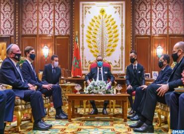 His Majesty King Mohammed VI receive a US Israeli delegation